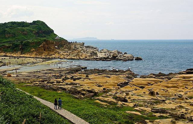 парк, тайвань, килун, прибрежный