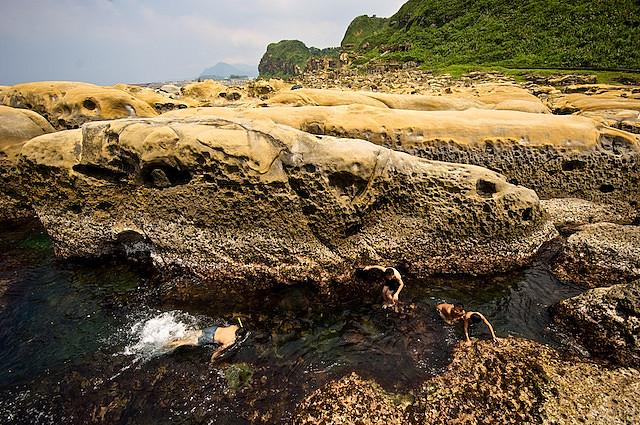 килун, портовый город, тайвань, скалы, парк, чудесный вид