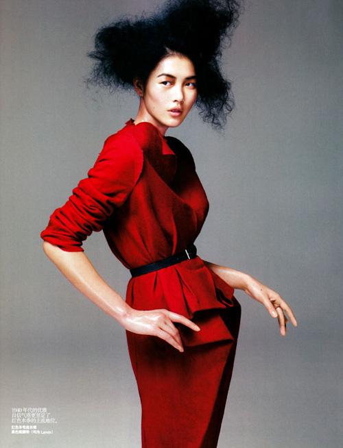 китайские модели, liu wen, red