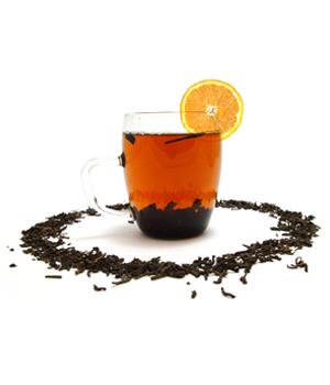 Освежающий апельсиновый чай с молоком