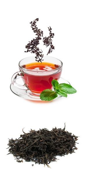 Черный чай с медом, яблоком и корицей