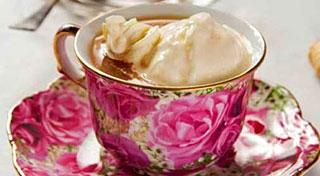 Чай с ванильным мороженым