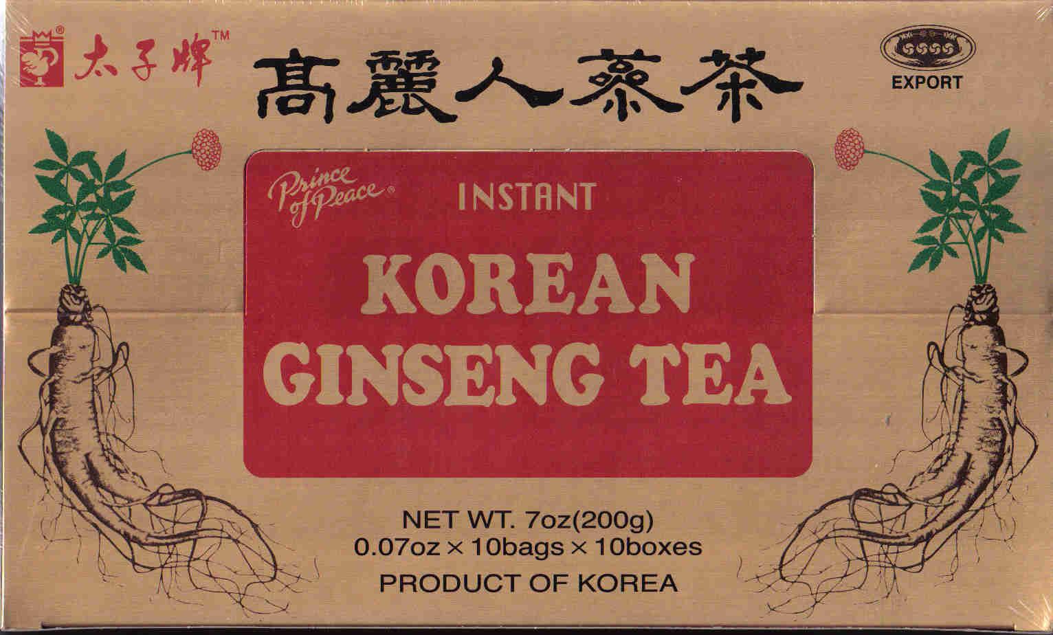 Рецепт корейского чая Гинсенг