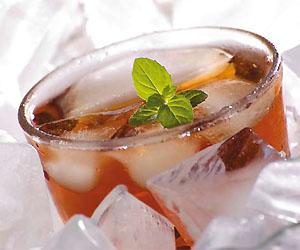 Индийский чай со льдом и мятой