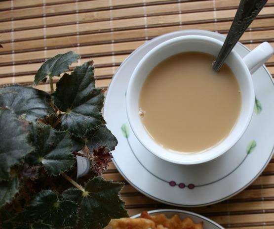 Чай по-калмыцки со сливками