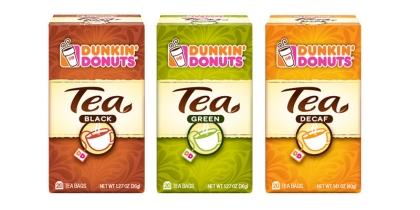 Упакованный чай Dunkin' Donuts поменял свой облик