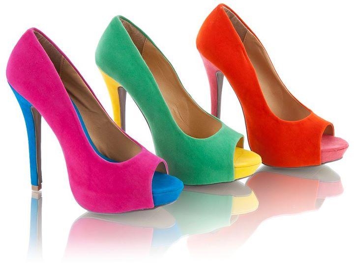 Яркие туфли – как и с чем носить?