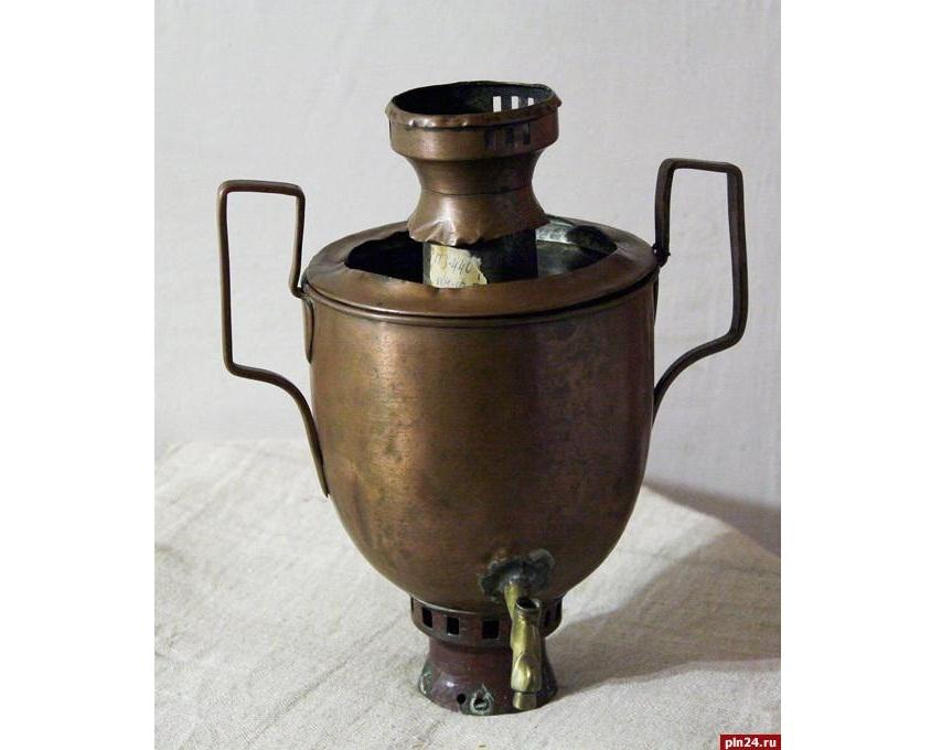 Самовар, из которого пил чай Пушкин, на виртуальной выставке сайта музея-заповедника «Михайловское»