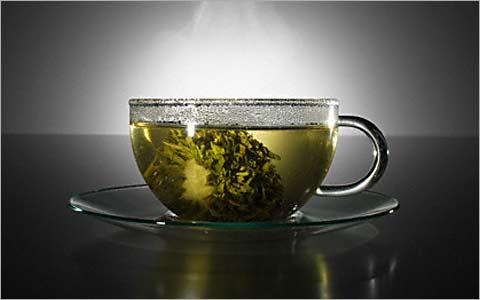Зеленый чай блокирует действие бета-блокатора