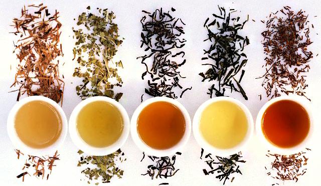 Традиционно виды чая разделяют по цветам