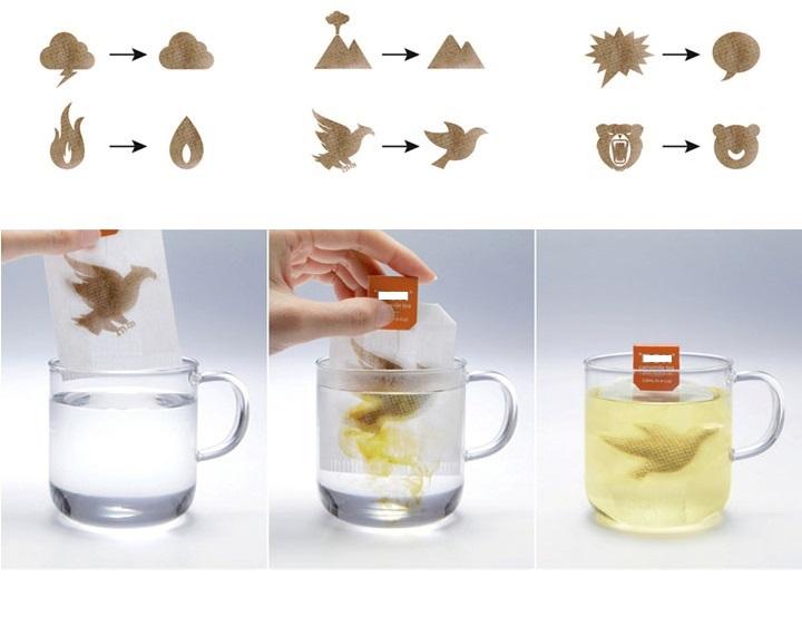 Интересное решение для чайных пакетиков нашел малазийский производитель чая для серии ромашковых чаев