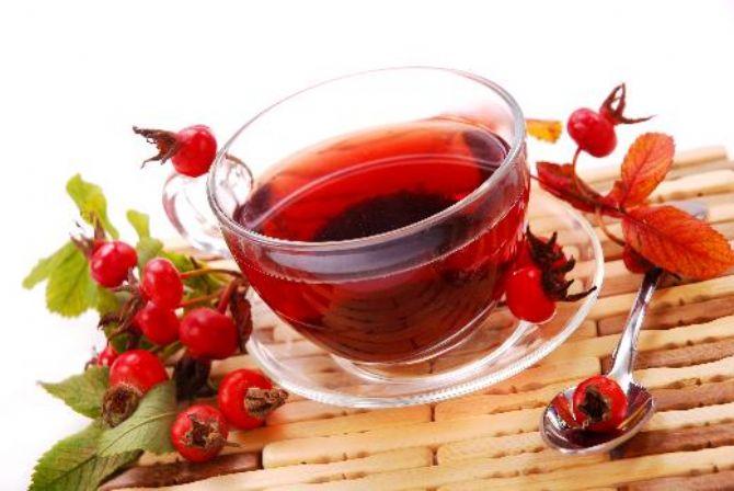 Чай с шиповником поможет снизить вес