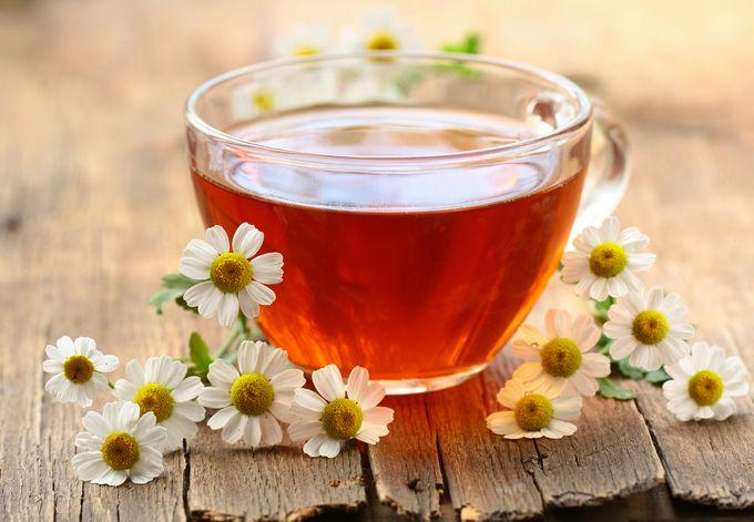 Ромашковый чай поможет очистить печень