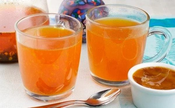 Согревающий и невероятно полезный чай с облепихой и апельсиновой цедрой