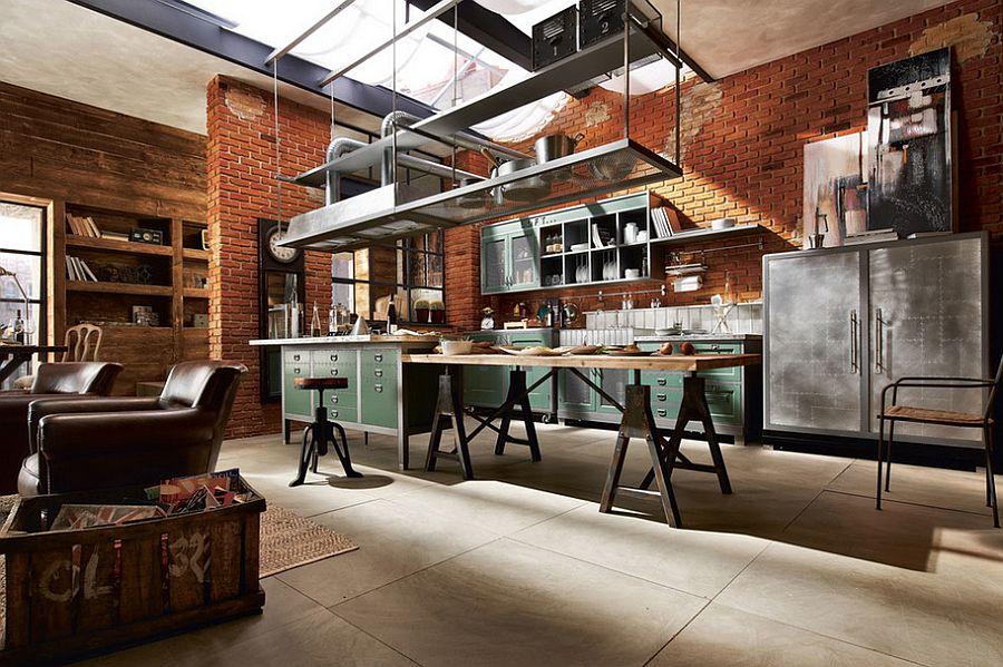 Кухня в стиле лофт – красота индустриального мира