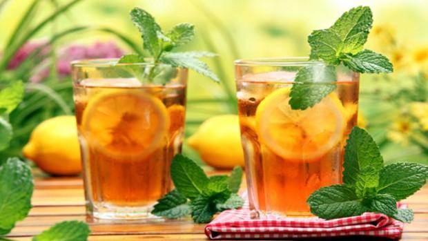 Зеленый чай с лимоном можно использовать в качестве ферментного средства