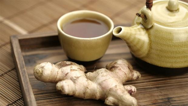 Имбирный чай лечит кашель и выводит избыток слизи из бронхов