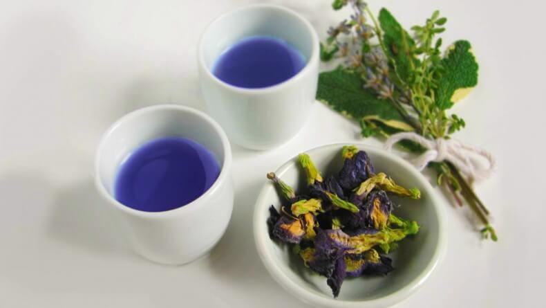 Полезные свойства синего чая