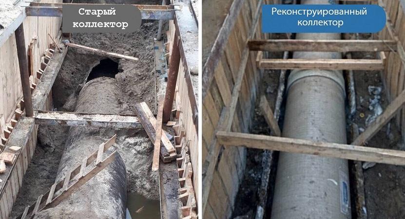 Коллектор на Семьи Кульженко восстановлен концерном КПДС