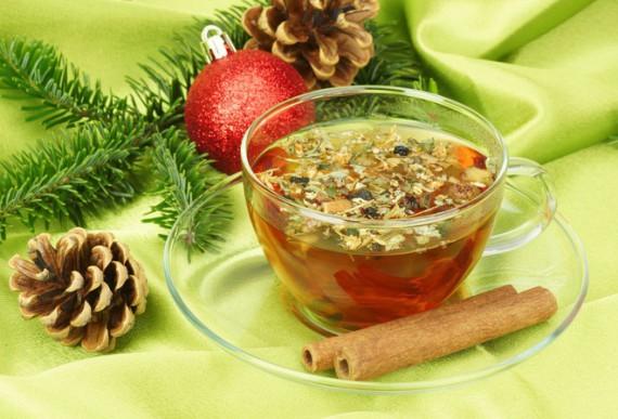 Чай с еловыми шишками