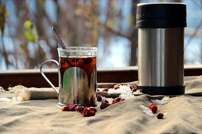 Как приготовить чай с шиповником в термосе