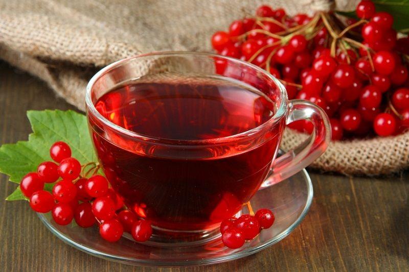 Калиновый чай. Ингредиенты: вода, калина