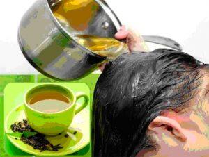 Маски и ополаскиватели для волос из чая