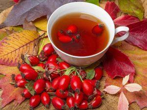 Чай из плодов шиповника и плодов малины