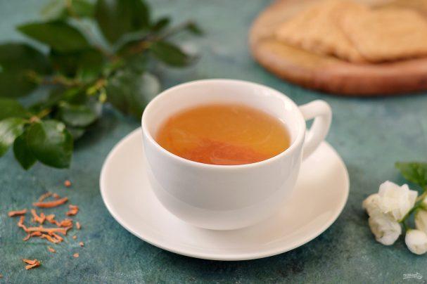 Чай зеленый с сушеной морковью