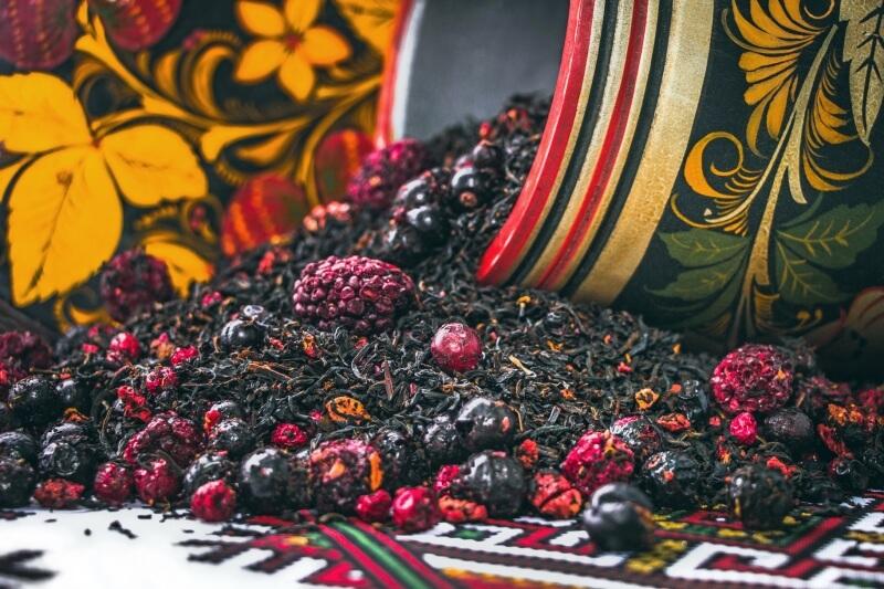 Русский черничный чай