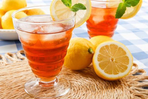 Чай лимонный шипучий