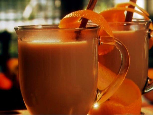 Апельсиновый чай с молоком