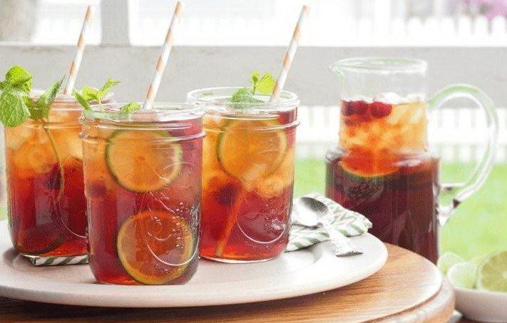 Ледяной чай с грейпфрутом